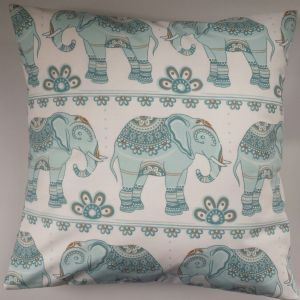 "16"" Indian Elephant Cushion Cover"